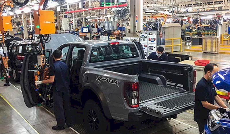 Nhà máy Ford chuyên lắp ráp dòng xe bán tải Ranger đặi tại Thái Lan.